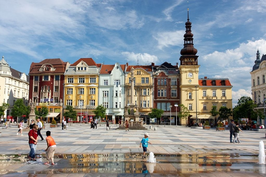 Masaryk square in Ostrava, The Czech Republic