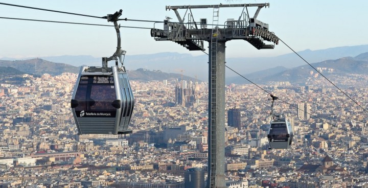Montjuic Cable Car, Barcelona, Spain