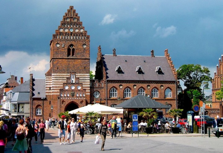 Old town hall, Roskilde, beautiful cities and towns in Denmark