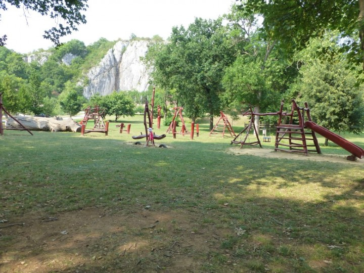 Playground at Baradla Cave, Aggtelek National Park, Hungary