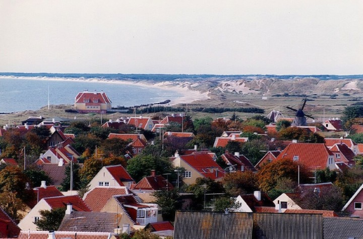 Skyline of Skagen, beautiful cities and towns in Denmark
