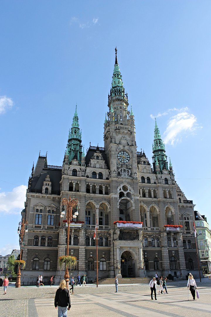 Town hall in Liberec, The Czech Republic
