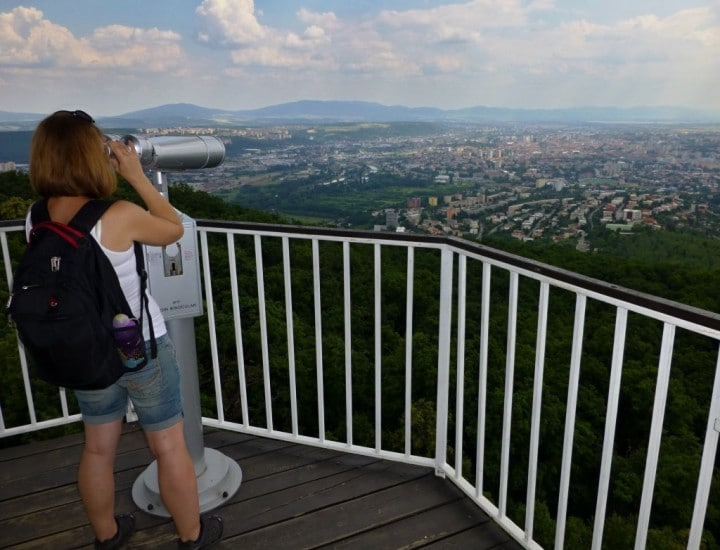 A view of the city of Kosice from Watch tower, Things to do in Košice, Slovakia