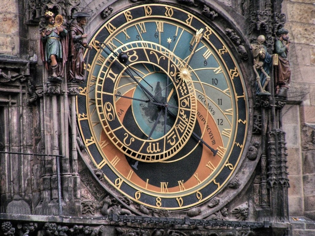 Prague's Astronomical clock, Orloj, celebrates its 605. anniversary