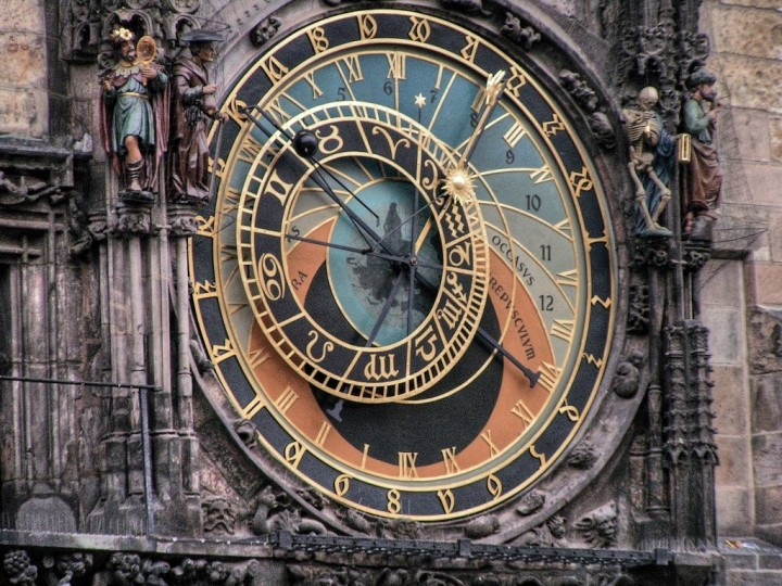 Astronomical dial, Orloj, Prague, The Czech Republic