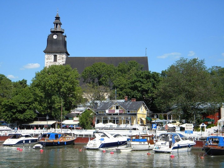 Naantali port and 15th century church, Finland - Tourist attractions in Finland