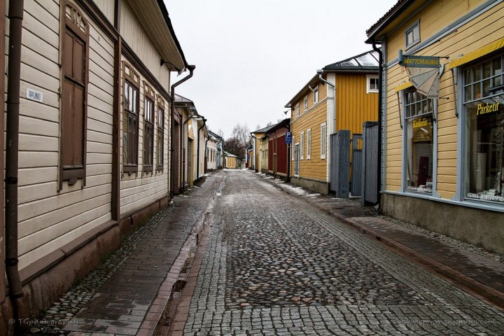 Wooden houses in Rauma, Finland - Tourist attractions in Finland