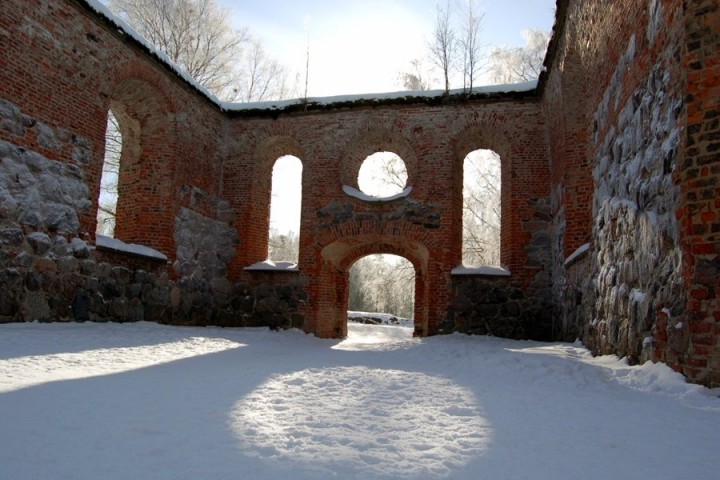 Ruins of the St. Maria Church in the old Vaasa, Finland - Tourist attractions in Finland