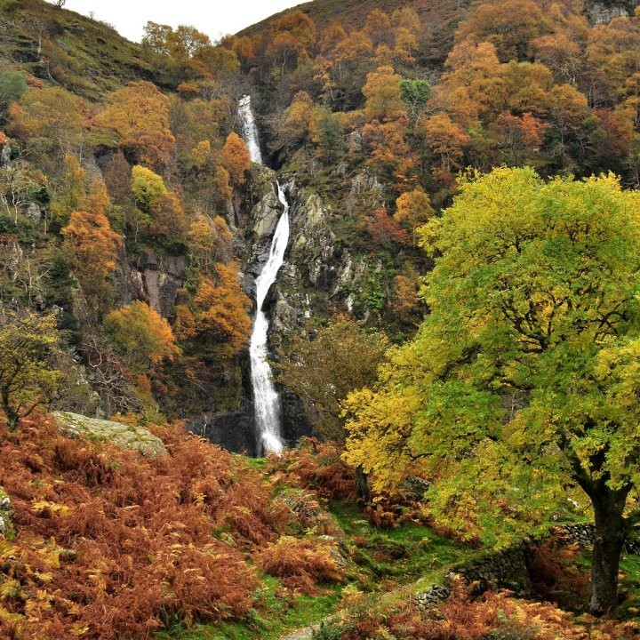 Aber falls, Snowdonia National Park, Wales, National Parks in the UK