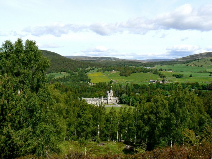 Balmoral Castle in Cairngorms National Park, Scotland, National Parks in the UK