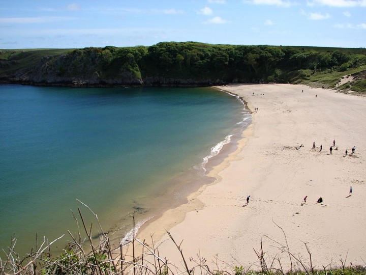 Barafundle Bay, Pembrokeshire Coast National Park, Wales, National Parks in the UK