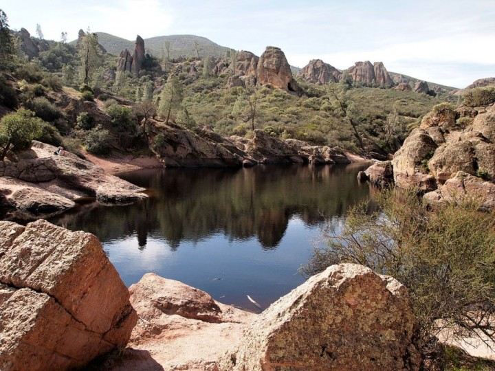 Bear Gulch reservoir at Pinnacles National Park, US National Parks
