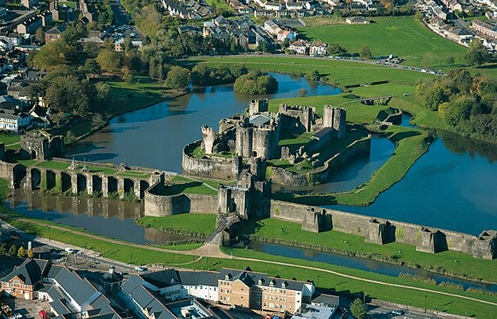 Caerphilly Castle, Castles in Wales, Visit Wales, UK