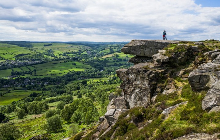 Derwent Valley from Curbar Edge, Peak District National Park, England, National Parks in the UK