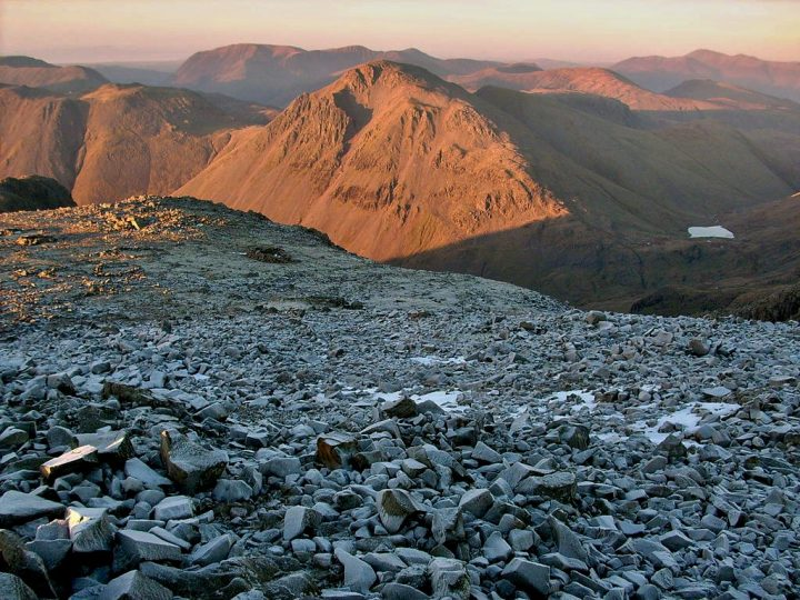Great Gable from Scafell Pike, Lake District National Park, UK Holidays