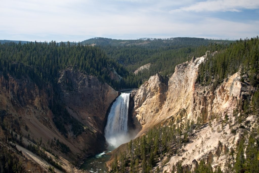 Huge falls in Grand Canyon of the Yellowstone National Park, USA