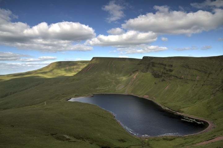 Llyn y Fan Fach, Brecon Beacons National Park, Wales, National Parks in the UK