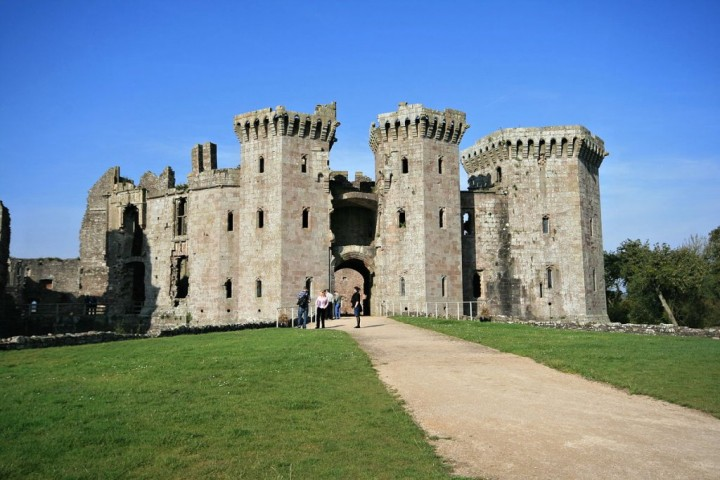 Raglan Castle, Castles in Wales, Visit Wales, UK