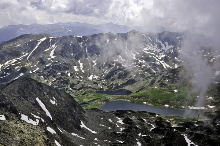 Bucura and Ana lakes from Peleaga Peak, Transylvania, Visit Romania
