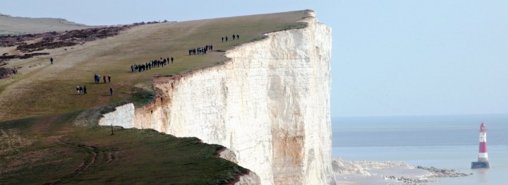 The cape of Beachy Head, South Downs National Park, England, National Parks in the UK