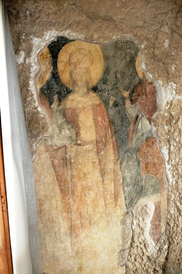 14th century mural portrait of Tsar Ivan Alexander from the Rock-hewn Churches of Ivanovo, Bulgaria