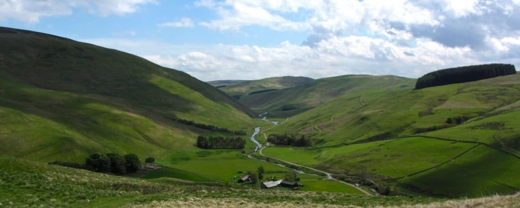 Upper Coquetdale in the Cheviots, Northumberland National Park, England, National Parks in the UK