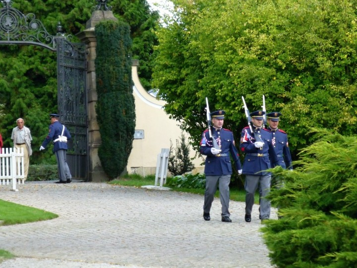 Changing guards at Chateau Lány, The Czech Republic