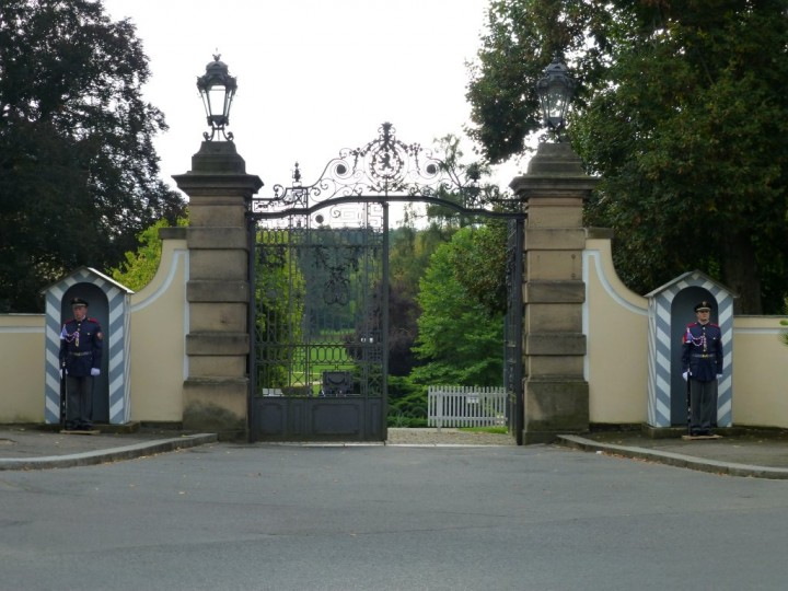 Secured Gate, Chateau Lány, The Czech Republic