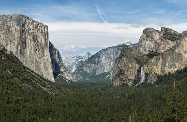 Tunnel View in Yosemite National Park, California, United States