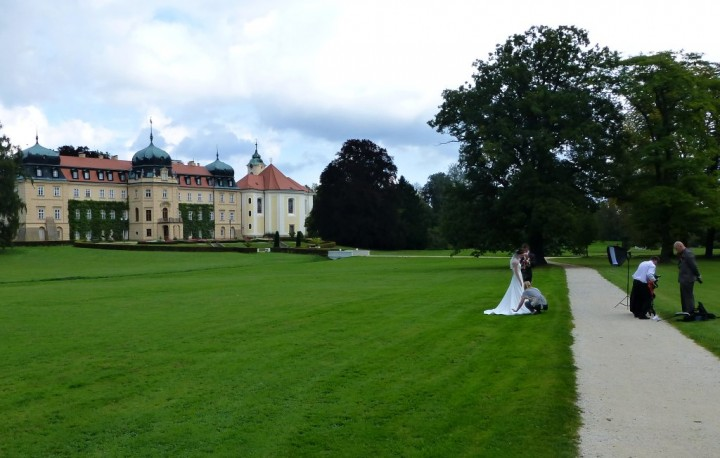 Wedding photography at Chateau Lány, The Czech Republic