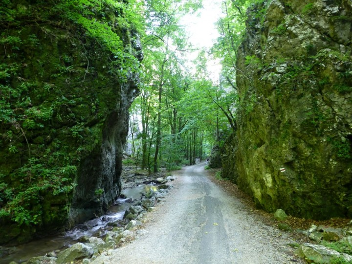 Narrowest point in Zadielska gorge, Slovak Karst National Park, Slovakia