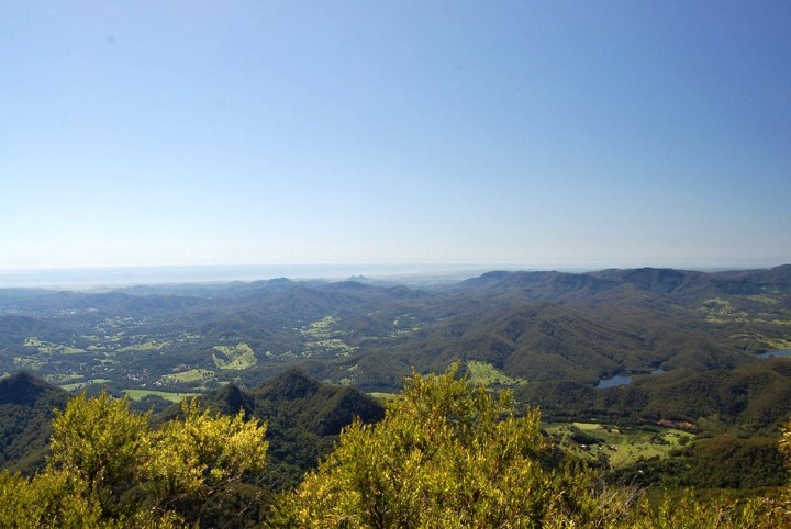 View from Mt Warning Summit, Byron Bay, Australia
