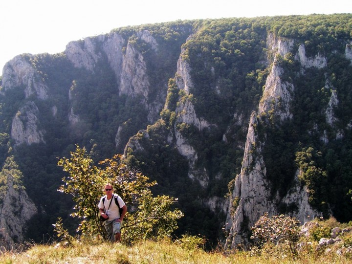 Zadielska gorge from plateau, Slovak Karst National Park, Slovakia