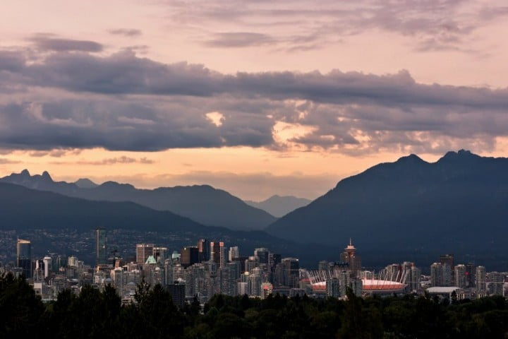 Vancouver and mountains, Canada