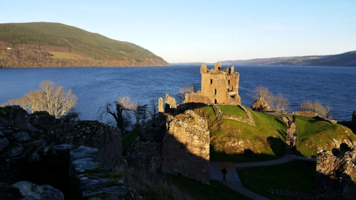 Urquhart Castle above Loch Ness lake, Things to do in Scotland