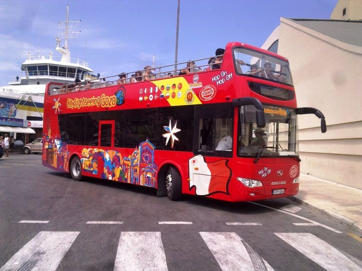 City Sightseeing Gozo Hop-On Hop-Off open top bus Malta
