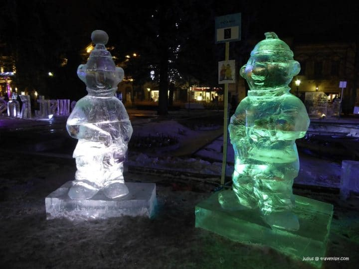 It's even more freezing here outside! Ice sculptures are back in Košice, Slovakia!