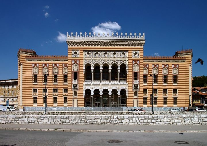 National Library, Sarajevo, BiH, Beautiful buildings in Eastern Europe