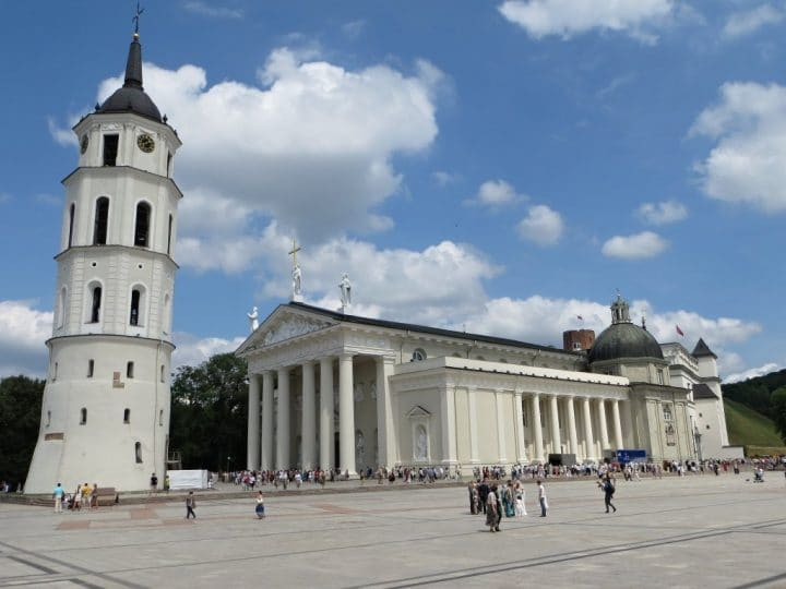 Vilnius Cathedral, Lithuania, Beautiful buildings in Eastern Europe