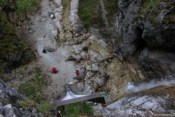 From a top of Great waterfall, Piecky Gorge, Slovak Paradise National Park