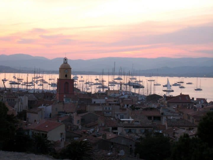 Evening in St. Tropez, France