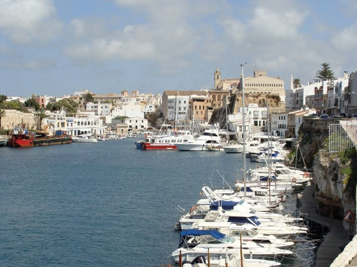 Port in Minorca, Balearic Islands, Spain