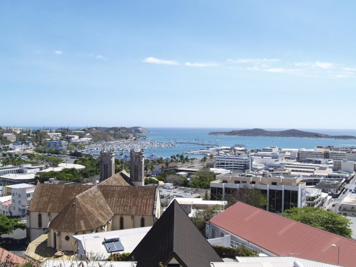 Nouméa center and the cathedral, New Caledonia