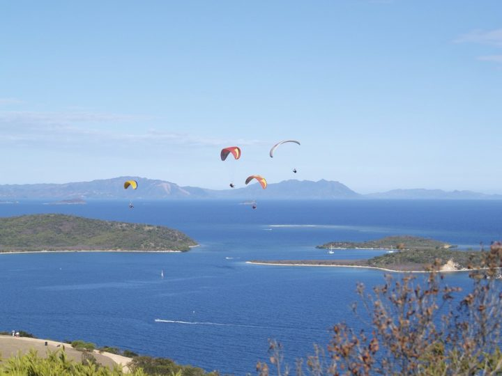 Paragliders in Nouméa, New Caledonia
