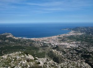 View of Javea from Montgó massif Spain