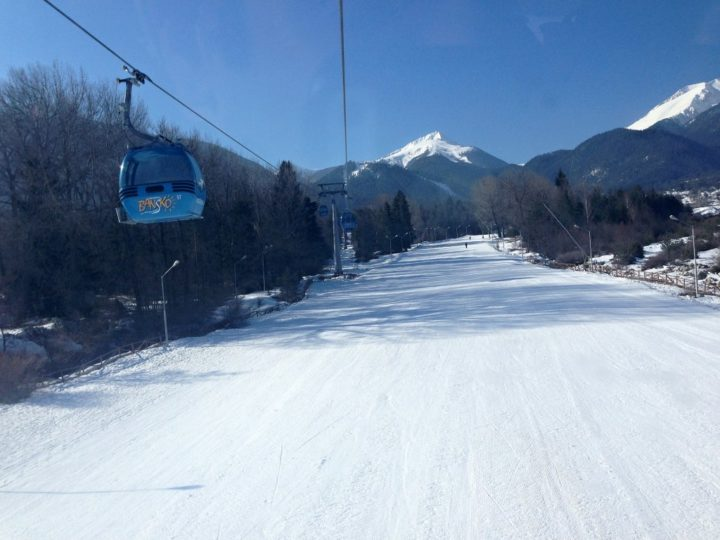 Ski resort in Bansko, Bulgaria