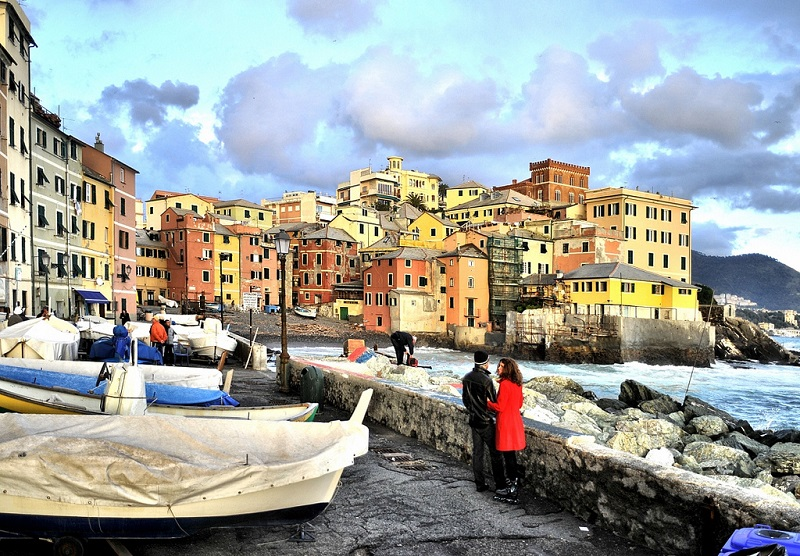 Boccadasse, best area to stay in Genoa