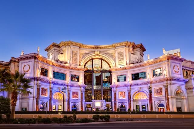Caesars Palace Forum Shop, best things to do in Las Vegas