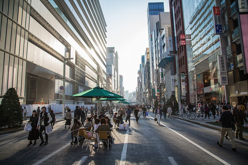Ginza, best area to stay in Tokyo