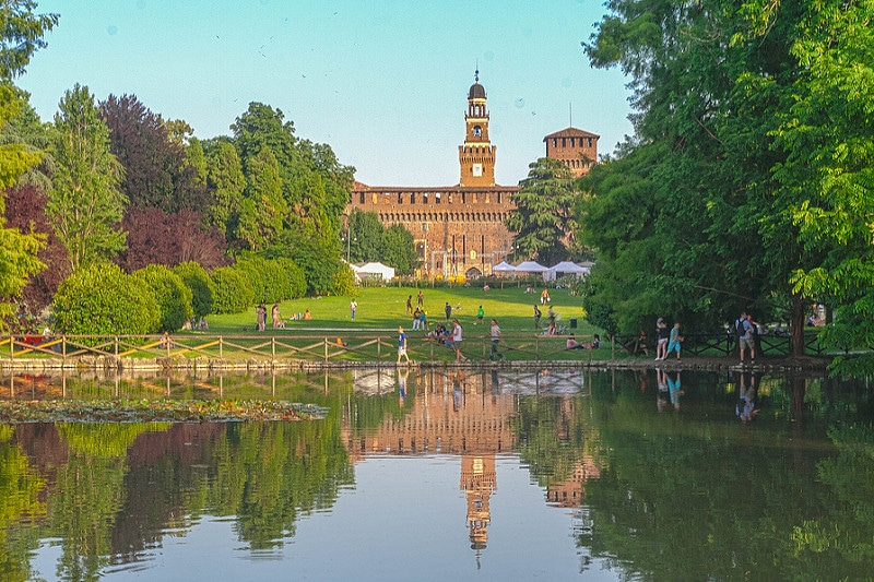 Parco Sempione, best area to stay in Milan